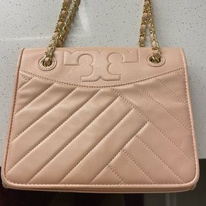 Tory Burch Fleming shell pink Leather Convertible